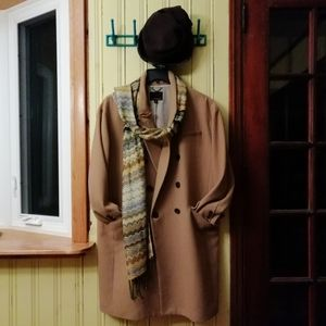 Vintage Cashmere/Silk/Viscose Blend Fringe Scarf